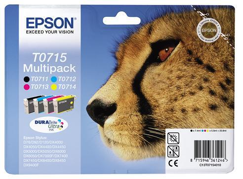 Náplně do Epson Stylus SX218, sada cartridge pro Epson černá, azurová, purpurová, žlutá