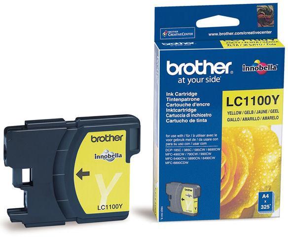 Náplně do Brother DCP-585CW, cartridge pro Brother žlutá