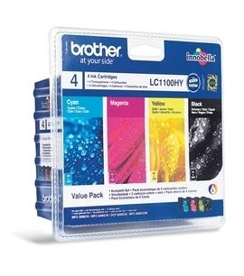 Náplně do Brother MFC-5895CW, sada cartridge pro Brother černá, azurová, purpurová, žlutá