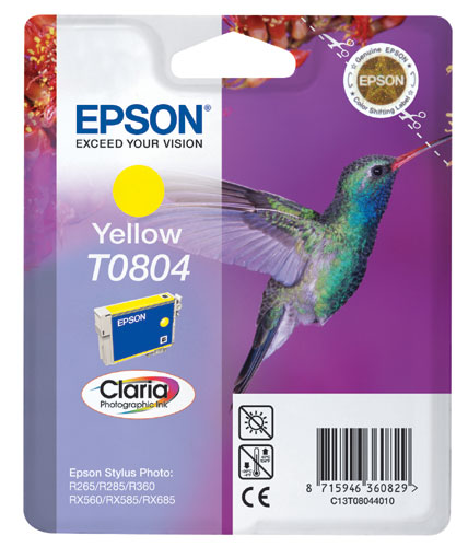 Náplně do Epson Stylus Photo PX660W, cartridge pro Epson žlutá