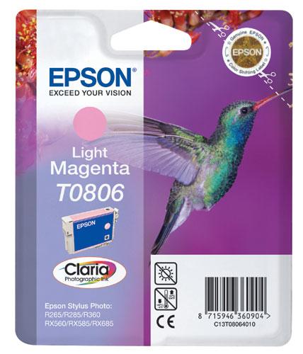 Náplně do Epson Stylus Photo RX585, cartridge pro Epson světle purpurová