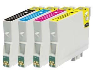 Náplně do Epson Stylus DX3850, sada náhradních cartridge pro Epson černá, azurová, purpurová, žlutá