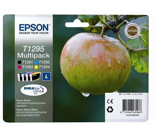 Náplně do Epson Stylus SX435W, sada cartridge pro Epson černá, azurová, purpurová, žlutá