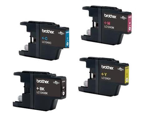 Náplně do Brother DCP-J525W, sada cartridge pro Brother černá, azurová, purpurová, žlutá