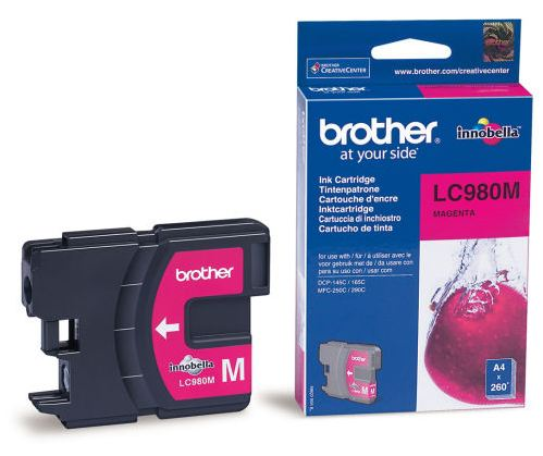 Náplně do Brother DCP-163C, cartridge pro Brother purpurová