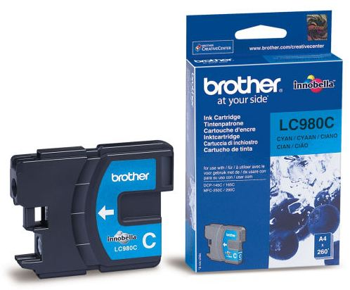 Náplně do Brother DCP-377CW, cartridge pro Brother azurová