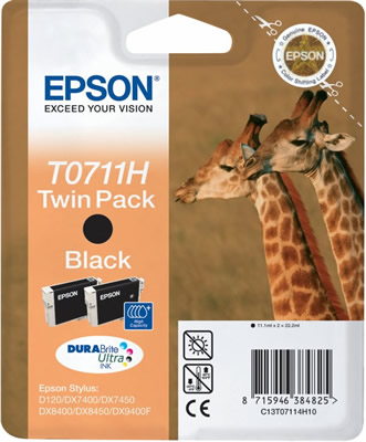 Náplně do Epson Stylus S20, cartridge pro Epson černá - Twin Pack