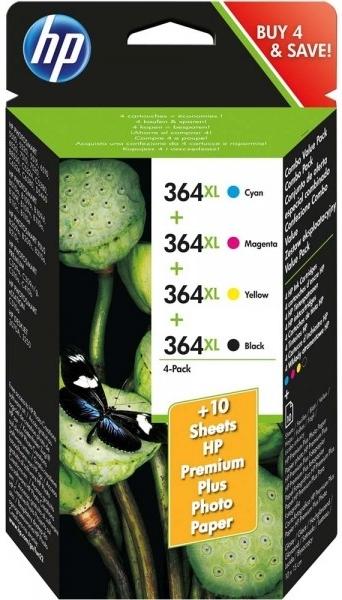 Náplně do HP Photosmart Plus B210a, sada cartridge XL pro HP černá, azurová, purpurová, žlutá