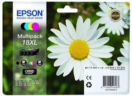 Náplně do Epson Expression Home XP-205, sada cartridge pro Epson černá, azurová, purpurová, žlutá
