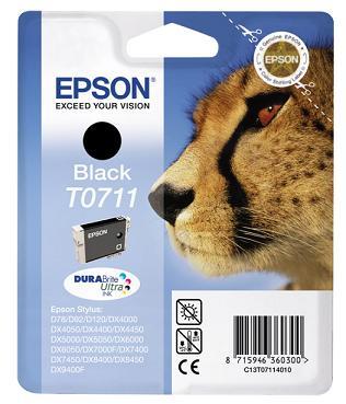 Epson T0711 černá (7,4ml) originál AKCE !!!