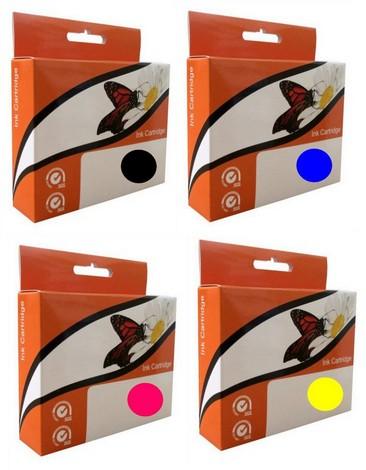 Náplně do HP Photosmart B109n, náhradní sada cartridge XL pro HP černá, azurová, purpurová, žlutá