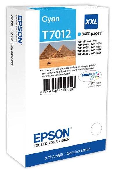 Náplně do Epson WorkForce Pro WP-4095, originální cartridge pro Epson azurová