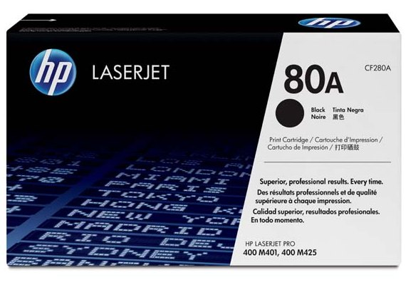 Náplně do HP LaserJet Pro 400 M401DN, toner pro HP černý